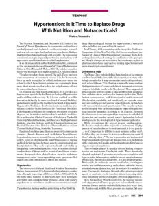 thumbnail of Using Nutraceuticals